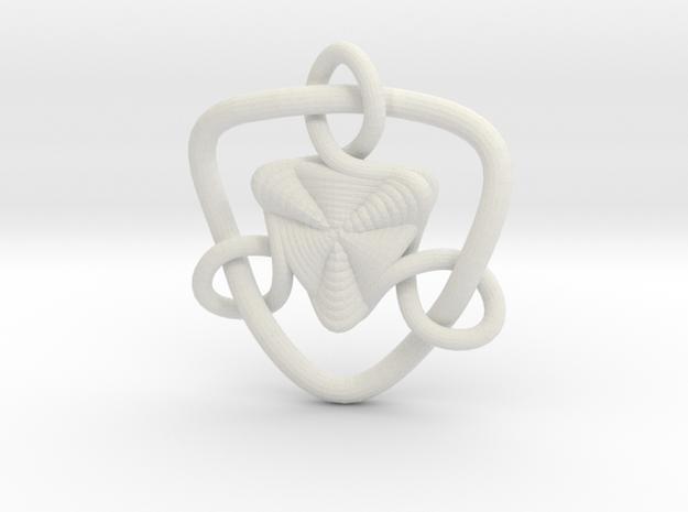 Celtic Knots 09 in White Natural Versatile Plastic