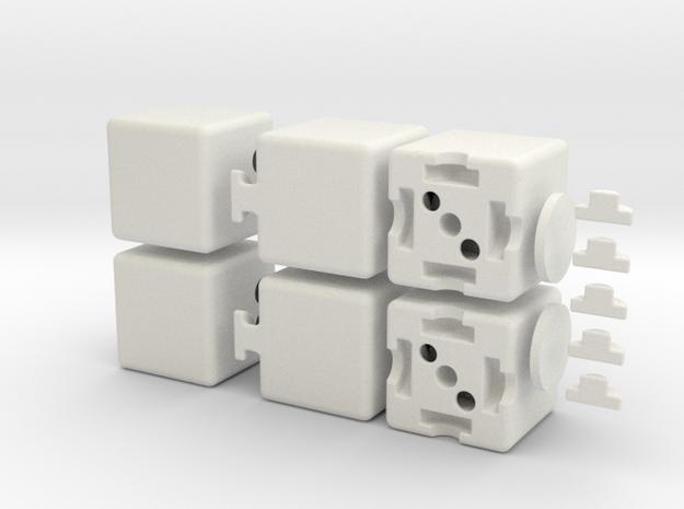 The Floppy 1x2x3 in White Natural Versatile Plastic