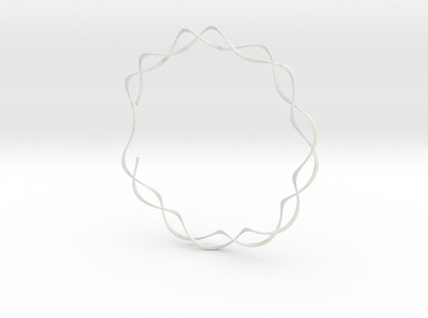 spiral_bracelet_001.dae in White Natural Versatile Plastic
