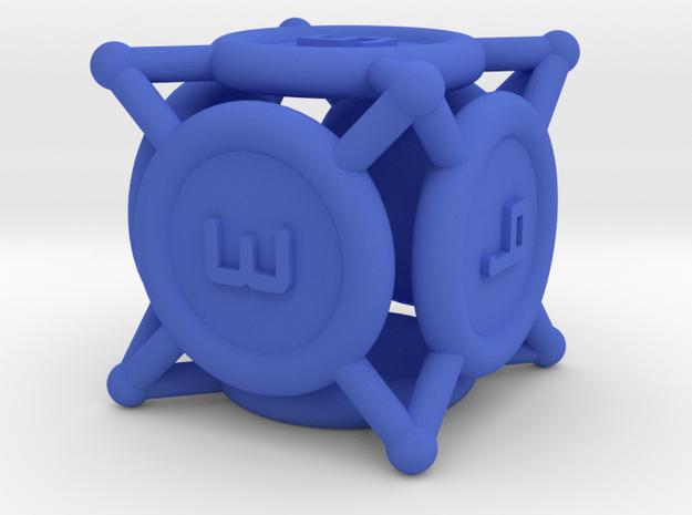 "d6 ""Spikes"" in Blue Processed Versatile Plastic"