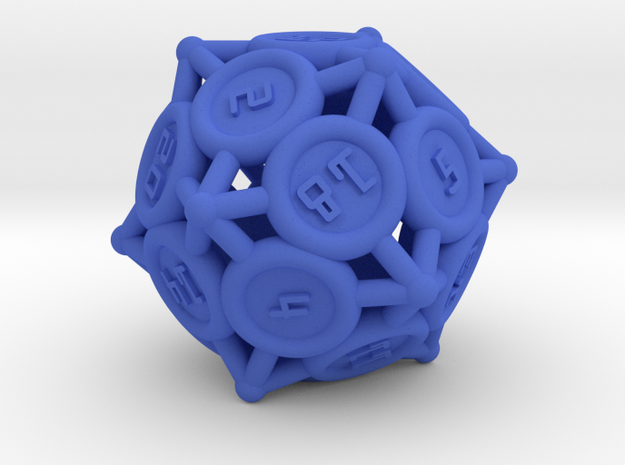 """d20 - """"Spikes"""" 3d printed"""