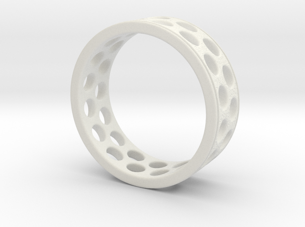 Crafted Ring 18mm in White Natural Versatile Plastic