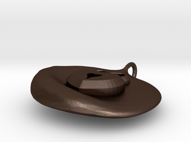 Heart Lock DogTag / Charm 3d printed