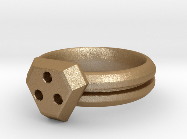 Interlocking Ring Set Hers 3d printed