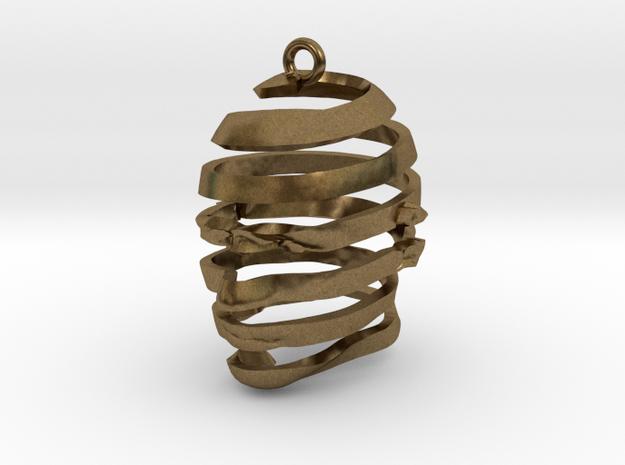 Escherian Head Earring 3d printed