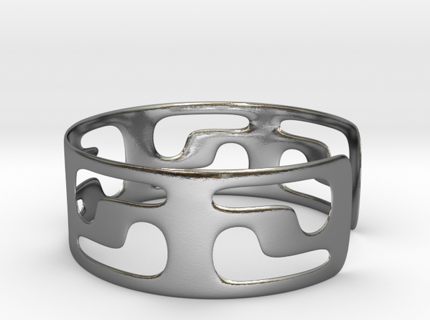 Bracciale05_d70mm in Polished Silver