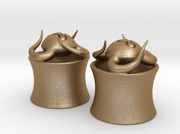 Tentacle Creature Plugs - Half Inch 3d printed