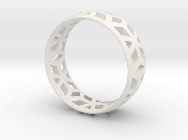 geometric ring 1 in White Natural Versatile Plastic