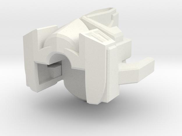 Nemesis head in White Natural Versatile Plastic