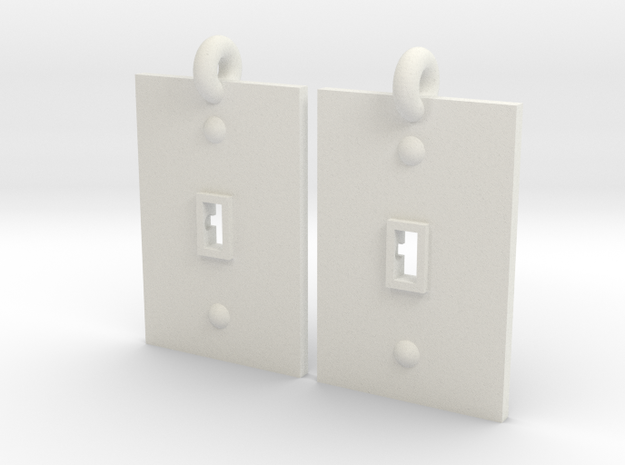 Turned on/off earrings 3d printed