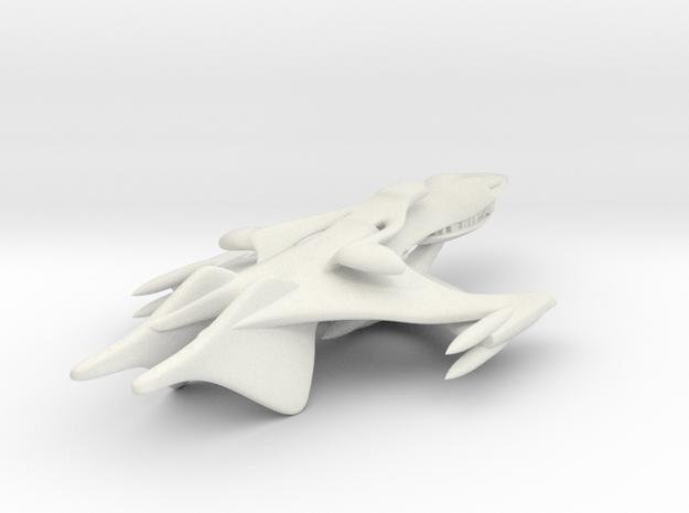 Classic Whitestar from Babylon 5 in White Natural Versatile Plastic