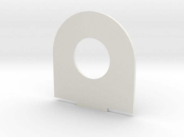 x2 in White Natural Versatile Plastic