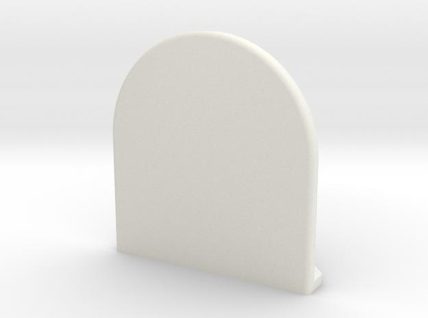 x3 in White Natural Versatile Plastic