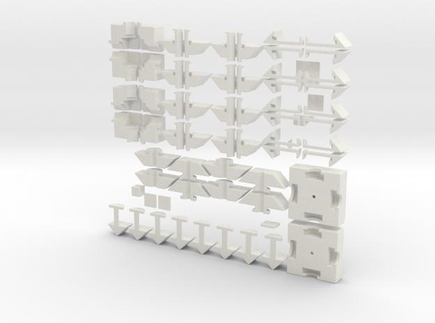 Quartet set in White Natural Versatile Plastic