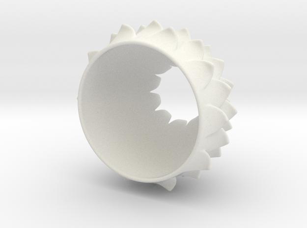 Thistle Tea Light Cover (thinner) in White Natural Versatile Plastic