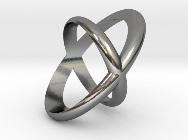 Cross Ring  in Polished Silver