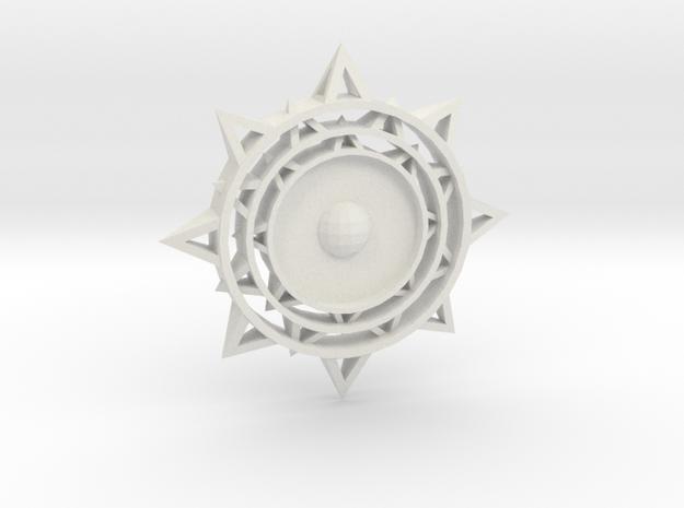 Sun Keychain m2 in White Natural Versatile Plastic