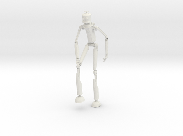 Robotman 20cm in White Natural Versatile Plastic