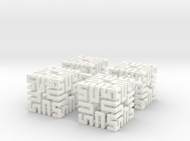 4 Springy Cubes 3d printed