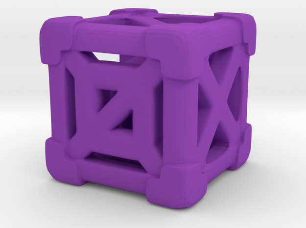 Cage 6-Sided Die - Full (smaller) 3d printed