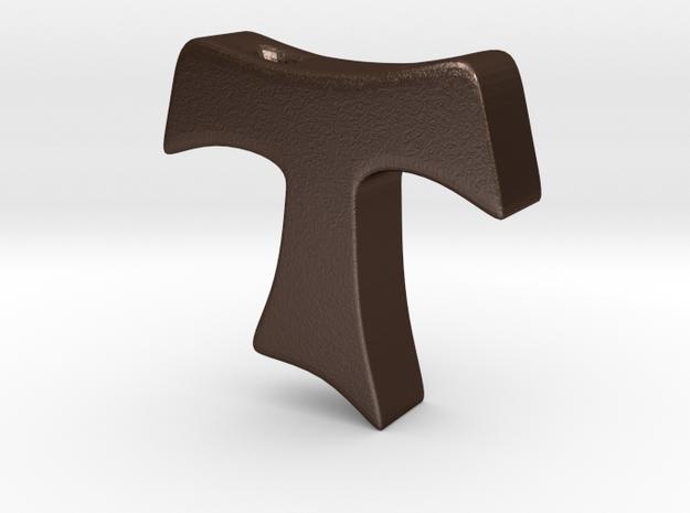 Tau cross pendant SMALL 3d printed