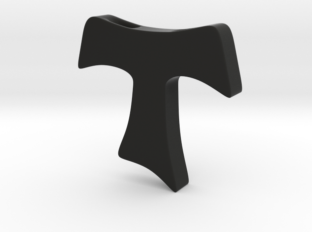 Tau cross pendant MEDIUM 3d printed
