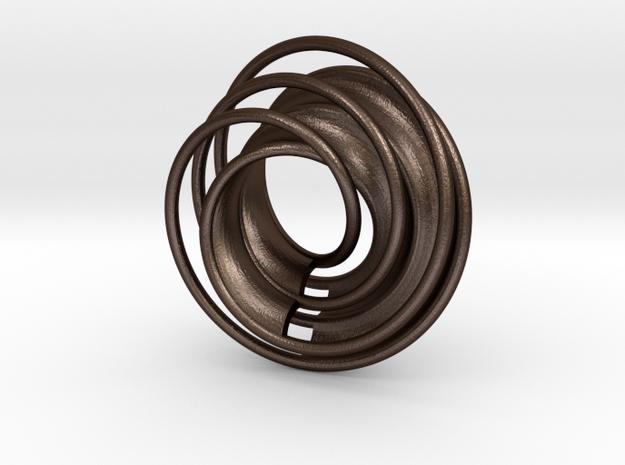 Twin Rail Mobius can-take-a-ball - Pendant 3d printed