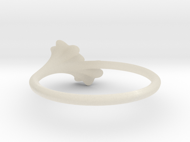 Ruffled Trumpet Ring 3d printed