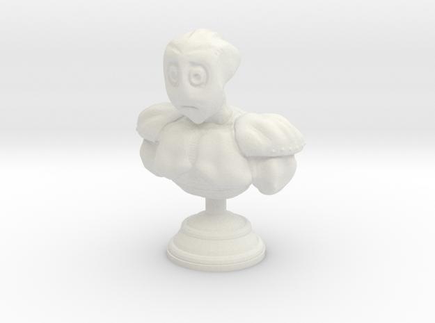 Sad Alien Bust in White Natural Versatile Plastic
