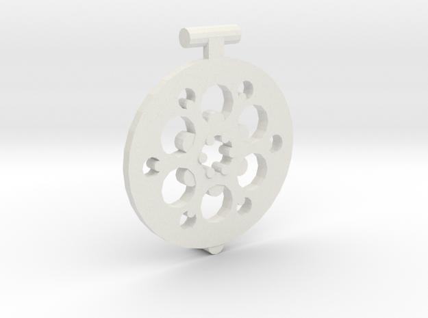 Lattuce Lid m2 in White Natural Versatile Plastic