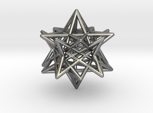 modified twisted Small stellated dodecahedron 3d printed