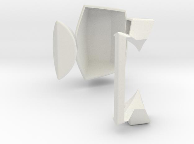 Master Pentagonal Floppy Prism CORNER STUFF (PRINT in White Natural Versatile Plastic