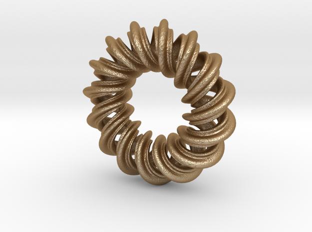Charm Bead 2 strand mobius spiral 3d printed