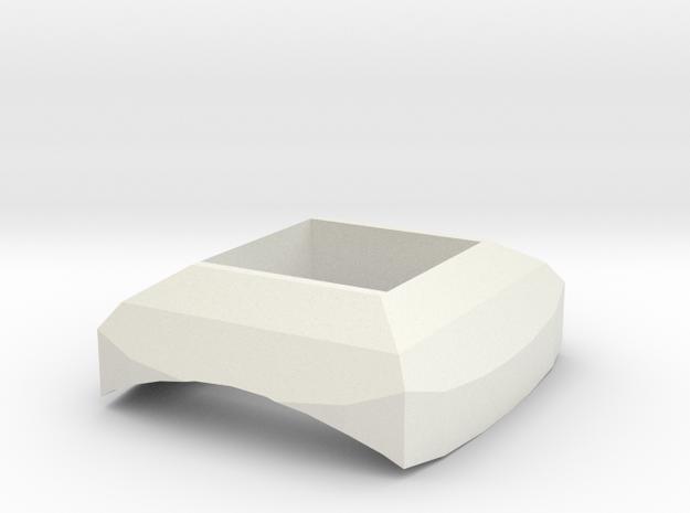 Aztec button in White Natural Versatile Plastic
