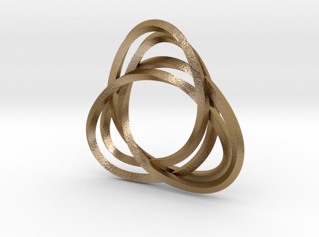 Tri mobius twin 2mm rail pendant 3d printed