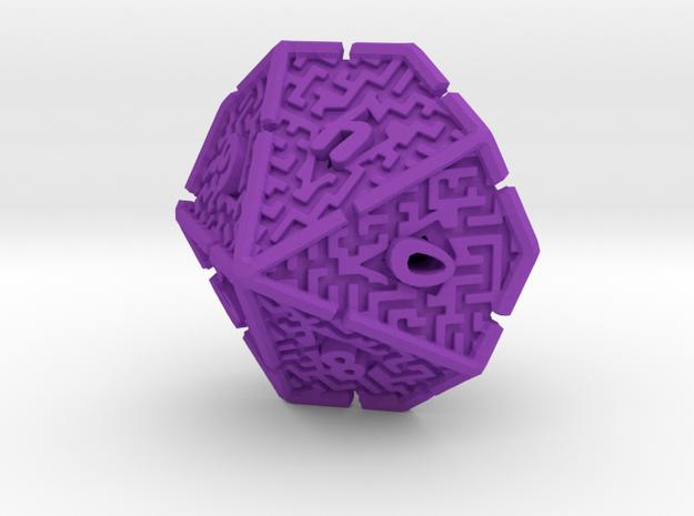 10 Sided Maze Die V2 3d printed