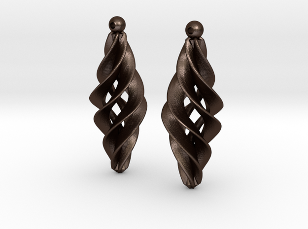 Spiral Star earrings pair 3d printed