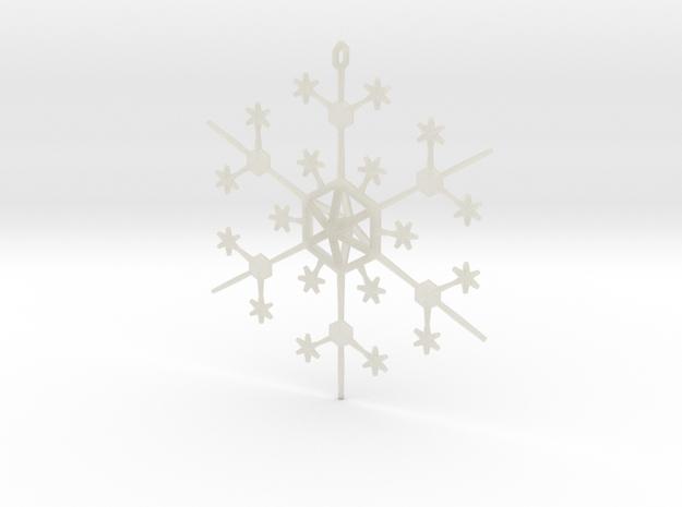 Snowflake Tree Ornament 3d printed
