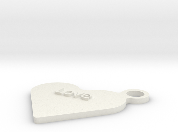Love Keyfob 3d printed