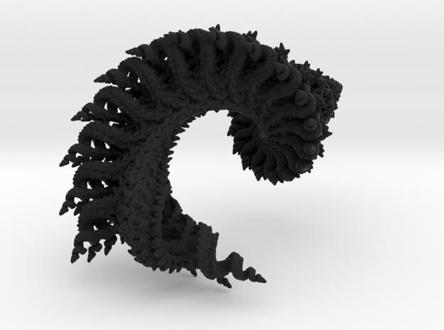 3D fractal model: Spiralling spirals 8cm x 4cm 3d printed