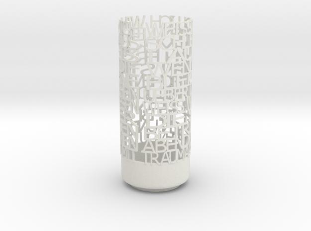 Rilke candle 3d printed