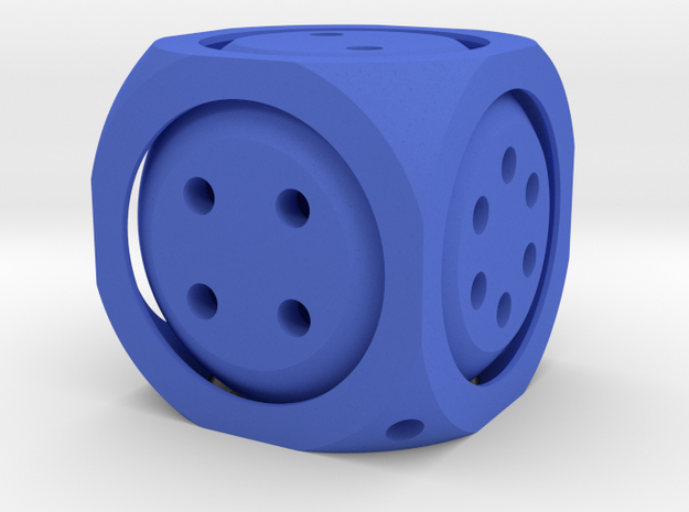Double D6 Dice 3d printed