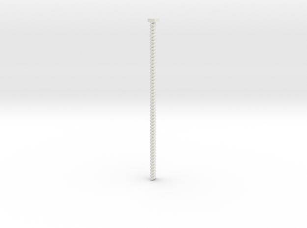 3mm Belt in White Natural Versatile Plastic