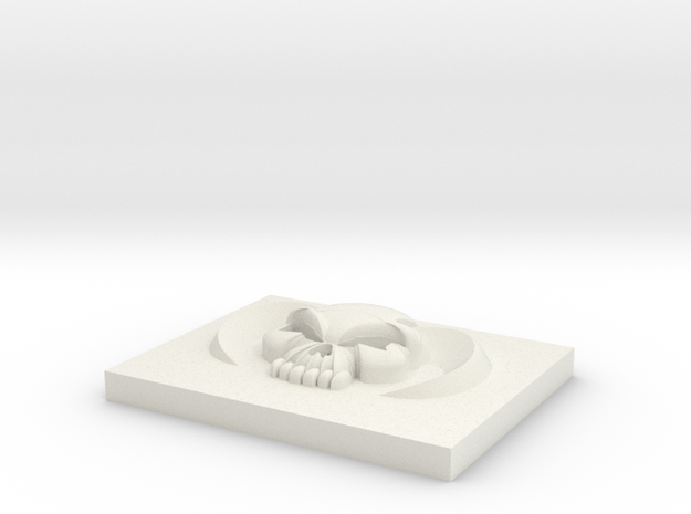 5.5mm Horned Skull in White Natural Versatile Plastic