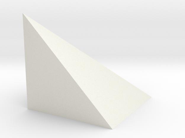 021: 1/3 cube in White Natural Versatile Plastic