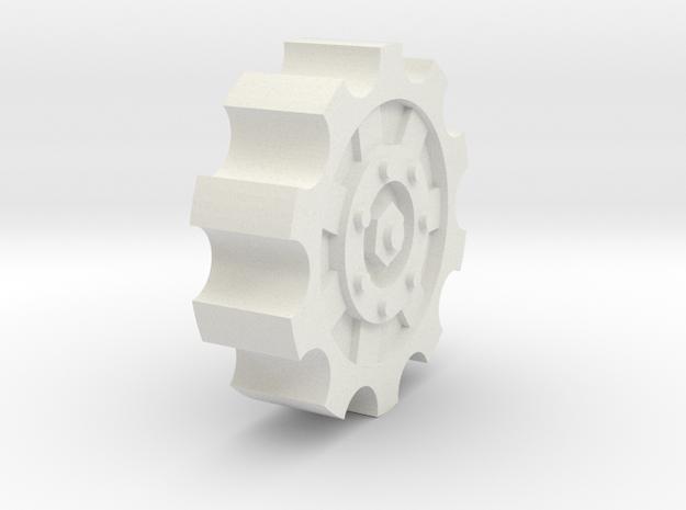 20mm cog wheel in White Natural Versatile Plastic
