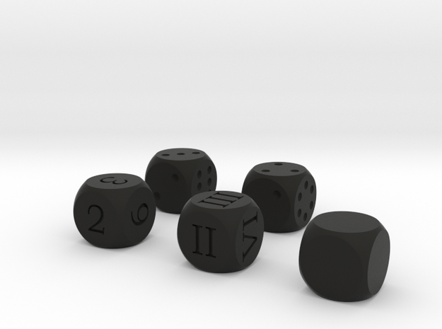 All Round D6 Dice 3d printed