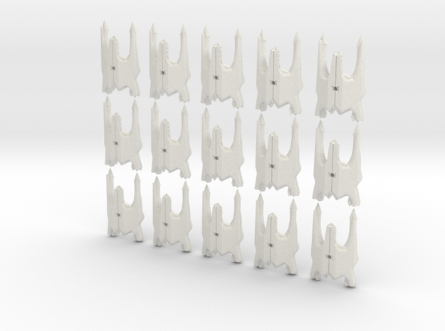 Tri fighter/bomber fleet scale cluster in White Natural Versatile Plastic