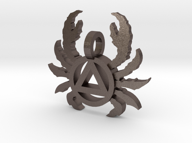 MD AA maryland crab necklace 3d printed