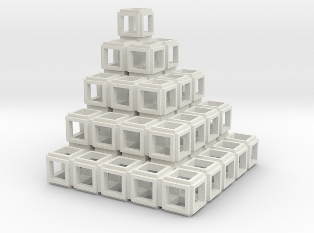 021: Square Tower hollowed out in White Natural Versatile Plastic